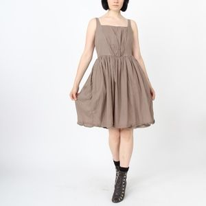 Bouffant dress in Olive